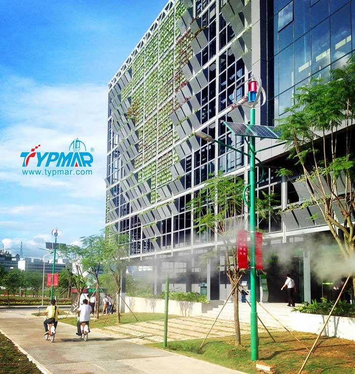 深圳市龙岗区低碳城风光互补路灯工程
