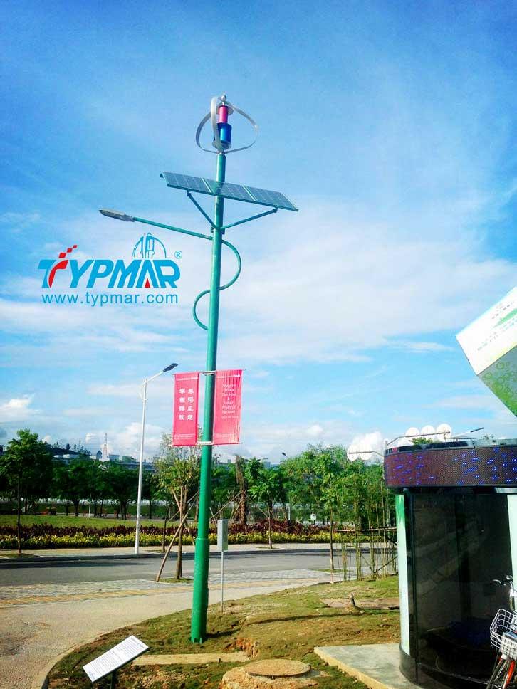 深圳市龙岗区低碳城风光互补路灯工程案例