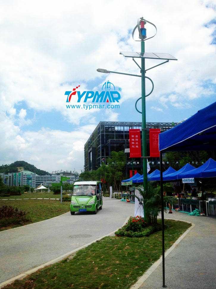深圳市龙岗区低碳城风光互补路灯系统案例