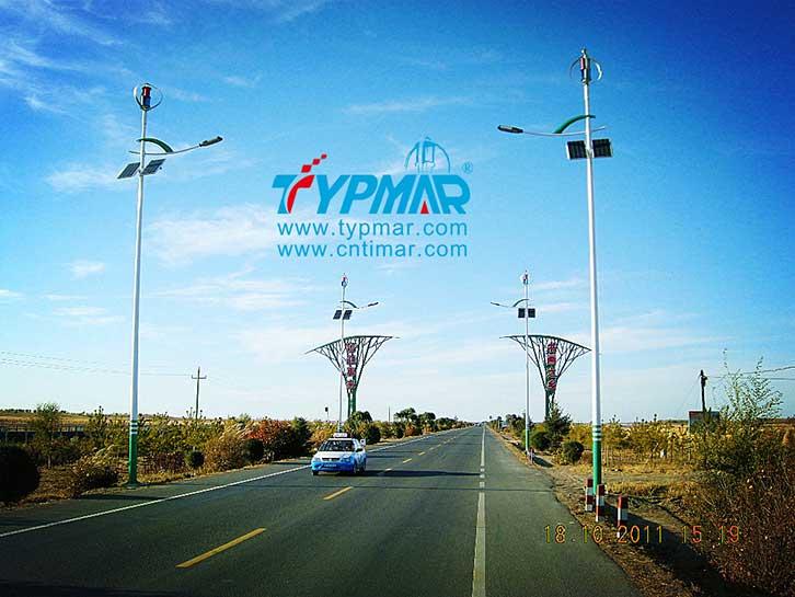 吉林白城风光互补路灯工程 风力发电机离网系统