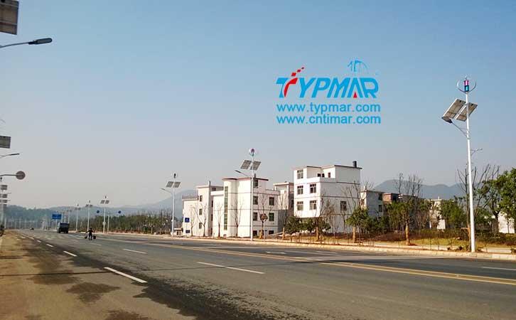 江西吉安永新县将军大道风光互补路灯工程 磁悬浮风力发电机