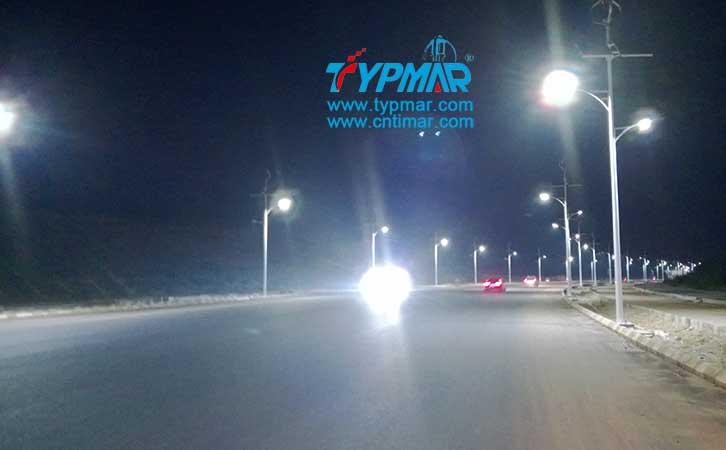 江西吉安永新县将军大道风光互补路灯工程 夜景