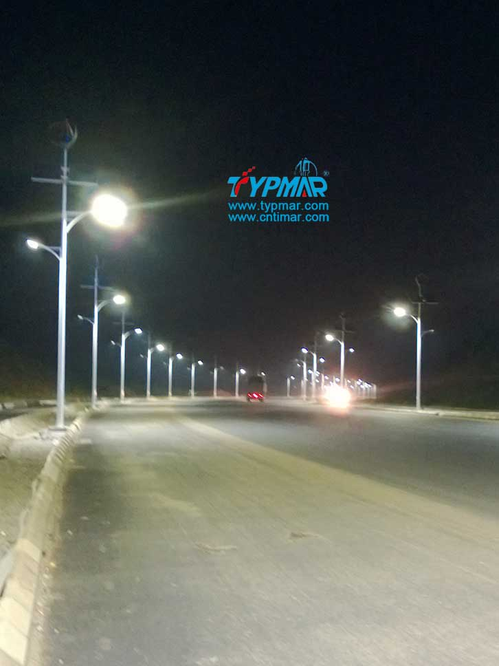 江西吉安永新县将军大道风光互补路灯工程 照明