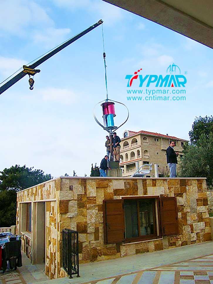黎巴嫩居民家庭供电系统 吊装