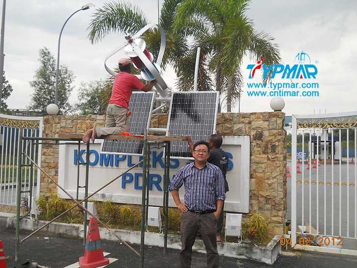 马来西亚风光互补路灯工程安装