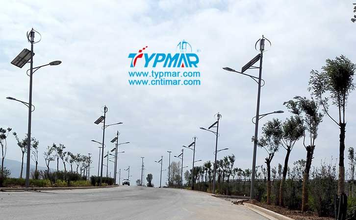 青海海东开发区风光互补路灯 风力发电机